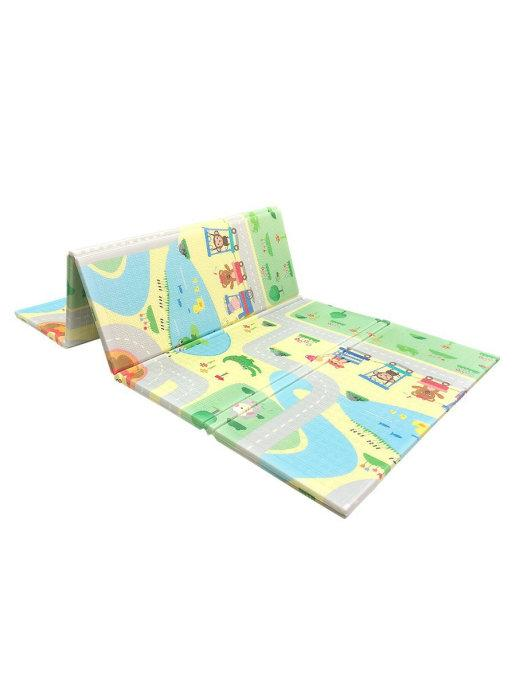 Детский двусторонний игровой развивающий коврик, складной, 180х160х1 см - фото 8