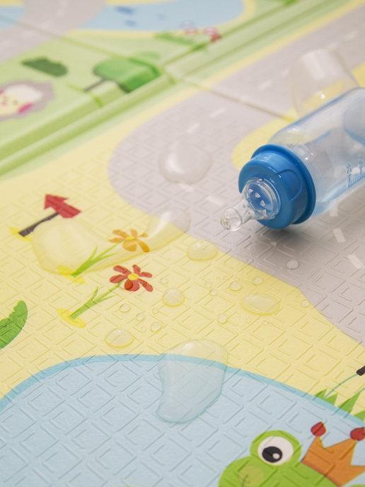 Детский двусторонний игровой развивающий коврик, складной, 180х160х1 см - фото 3