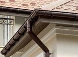 Водосток воронка сливная коричневая 3м (D-120мм) VERAT, фото 2