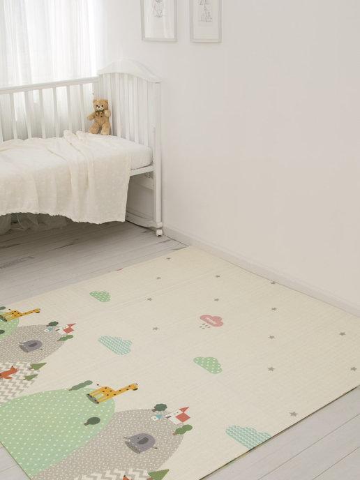 Детский двусторонний игровой развивающий коврик, складной, 180х160х1 см - фото 4
