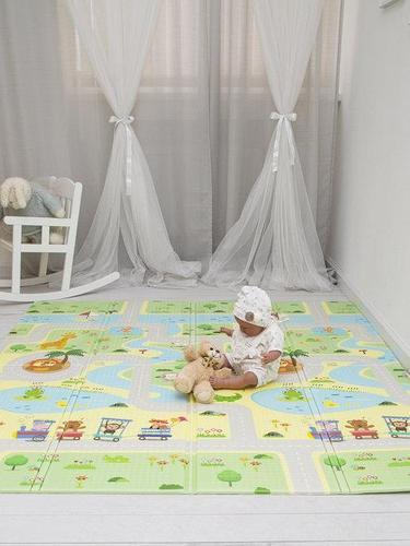 Детский двусторонний игровой развивающий коврик, складной, 180х160х1 см Игровой коврик