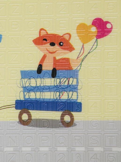 Детский двусторонний игровой развивающий коврик, складной, 180х160х1 см - фото 7