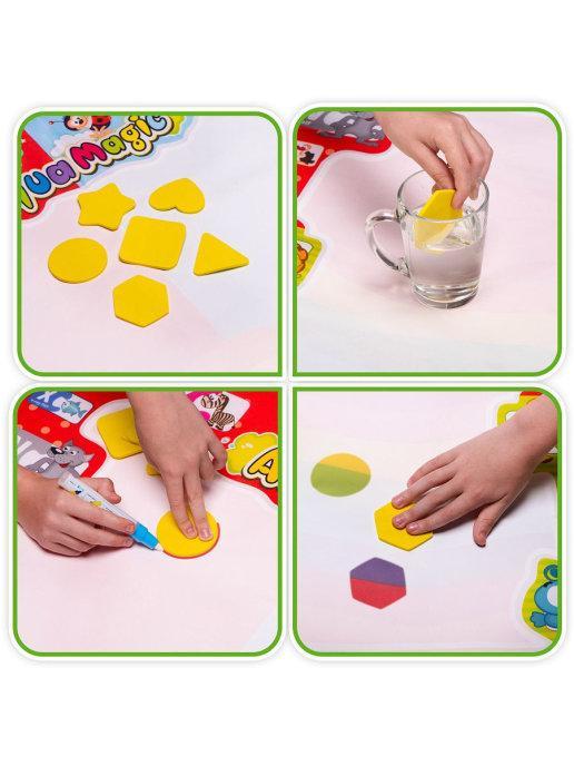 Набор для рисования водой из 25 предметов Развивающие игрушки Игровой детский коврик для раскраски - фото 7