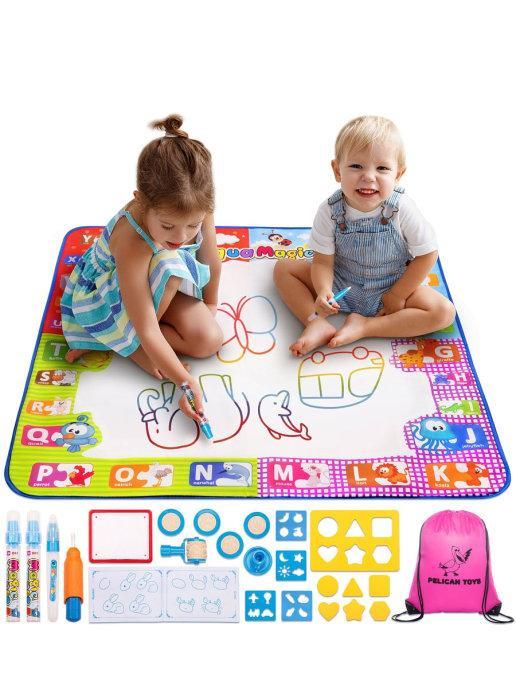 Набор для рисования водой из 25 предметов Развивающие игрушки Игровой детский коврик для раскраски - фото 1