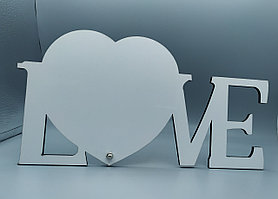 Рамка МДФ для сублимации (LOVE), размер 290х150х5мм