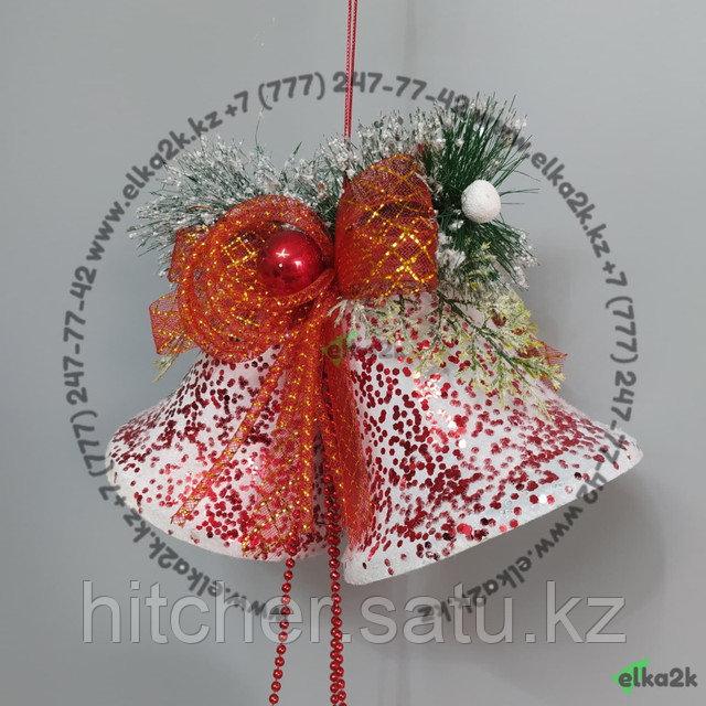 """Новогоднее украшение подвеска """"Колокол"""" 65 см"""