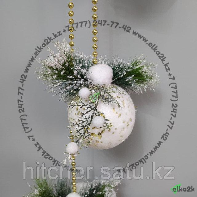 """Новогоднее украшение подвеска """"Колокол"""" 90 см"""
