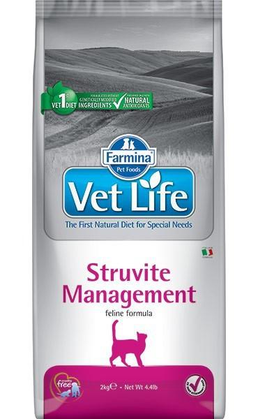 Farmina Vet Life Struvite Management при рецедивах мочекаменной болезни
