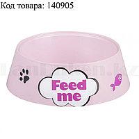 """Миска для кошек """"Feed me"""" М6969 розовая"""