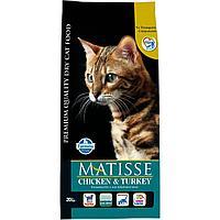 Matisse для взрослых кошек, с курицей и индейкой