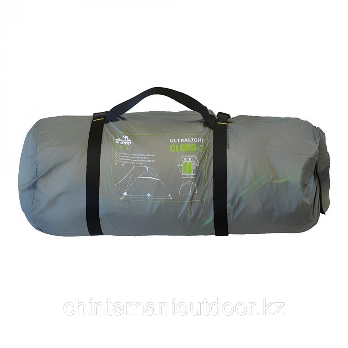 Ультралегкая палатка 2х местная, Tramp Сloud 2 Si, вес 2,15 кг, тамбур - фото 7
