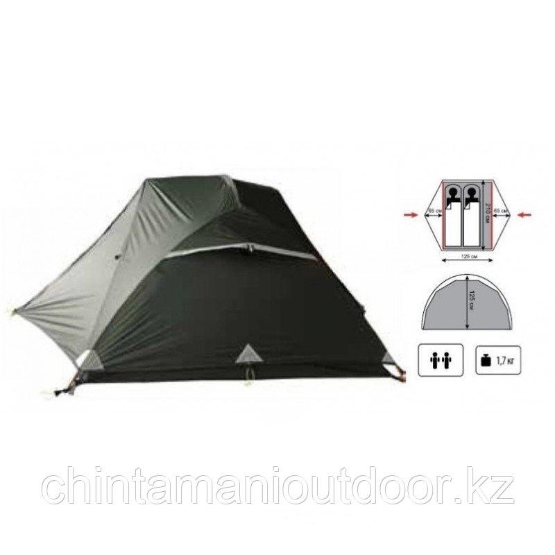 Ультралегкая палатка 2х местная, Tramp Сloud 2 Si, вес 2,15 кг, тамбур - фото 5