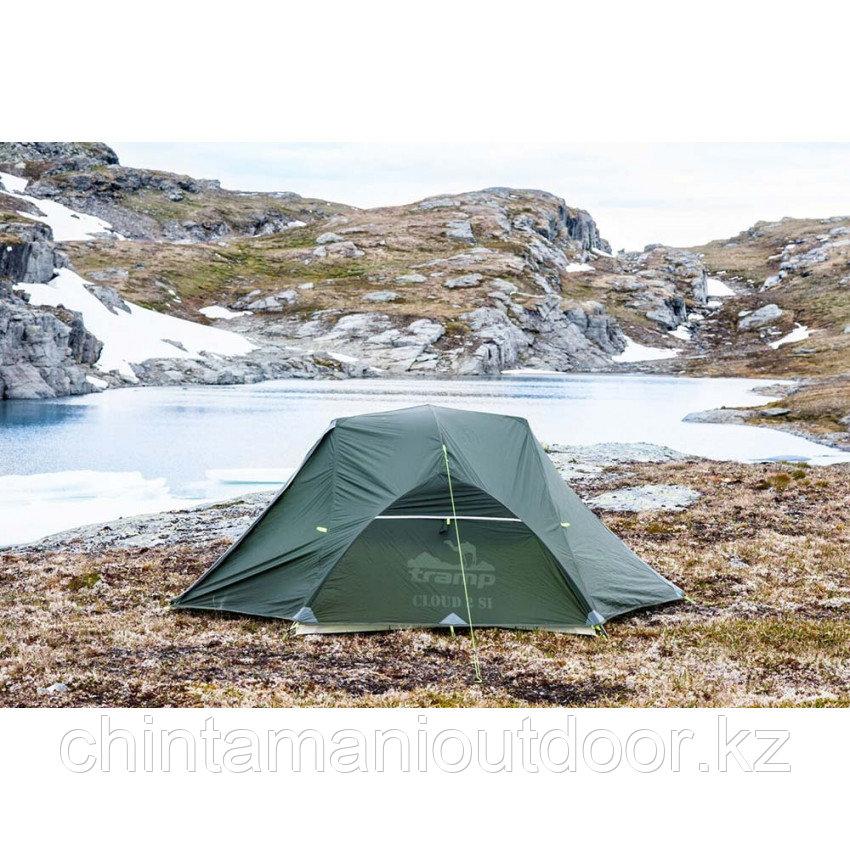 Ультралегкая палатка 2х местная, Tramp Сloud 2 Si, вес 2,15 кг, тамбур - фото 9