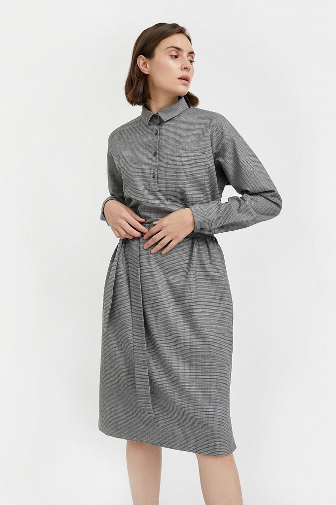 Платье женское Finn Flare, цвет серый, размер 2XL - фото 1