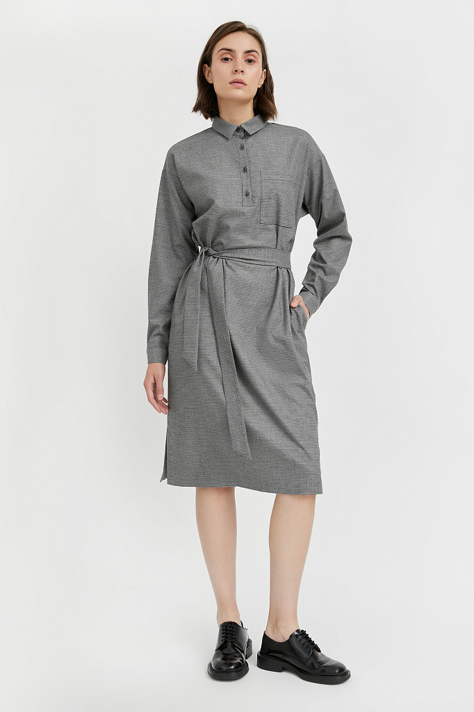 Платье женское Finn Flare, цвет серый, размер 2XL - фото 2