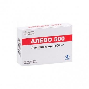 Алево 500мг №10 (левофлаксацин)