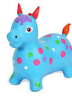 Звери прыгуны Лошадь голубая со звуком 60*52*29 см KH1-93