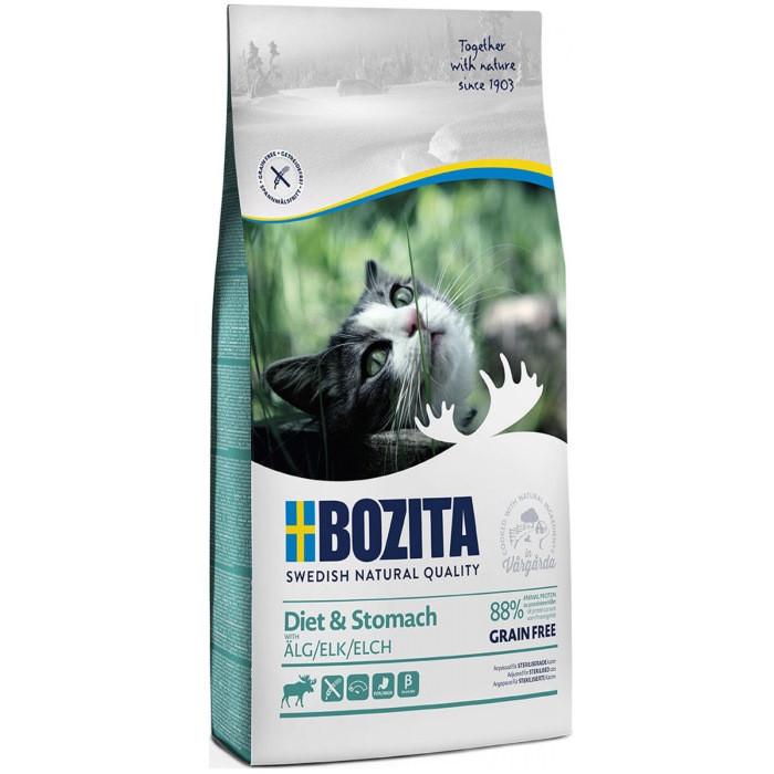 Bozita Diet& Stomach Grain Free для кошек с чувствительным пищеварением, с оленем