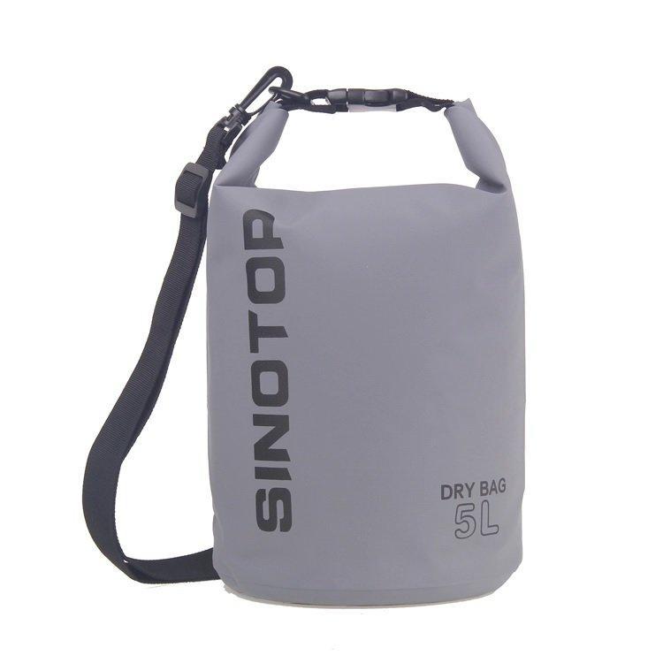 Водонепроницаемый рюкзак Sinotop Dry Bag 5L. (Серый)