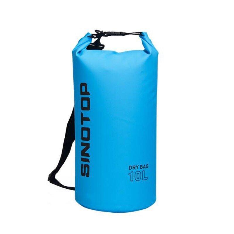 Водонепроницаемый рюкзак Sinotop Dry Bag 10L. (Голубой)