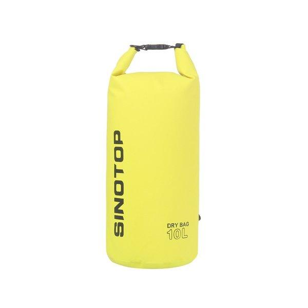 Водонепроницаемый рюкзак Sinotop Dry Bag 10L. (Жёлтый)
