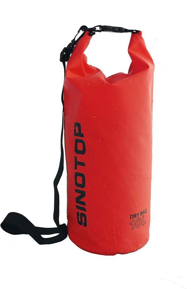 Водонепроницаемый рюкзак Sinotop Dry Bag 10L. (Красный)