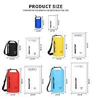 Водонепроницаемый рюкзак Sinotop Dry Bag 15L. (Серый), фото 6