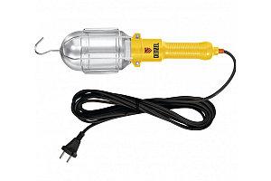 Лампа переносная 60W, кабель 5 метров// Denzel