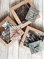 """Набор сладостей подарочный мужской """"подарок Парню"""" (шоколад в картонной коробке 17см х 17см), фото 1"""
