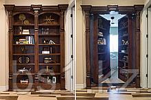 Изысканная двойная бронированная дверь книжного шкафа