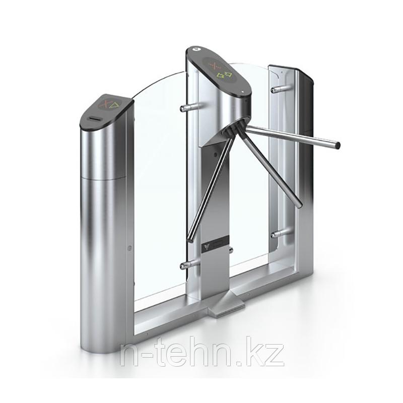 Praktika Т-03-D Турникет моторизованный двухсторонний со стеклом и планками антипаника