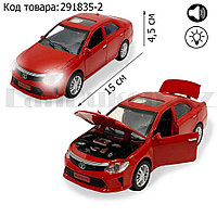 Игрушка детская машинка металлическая с свето-звуковым эффектом Die-Cast Metal Model Car 1:32 красная