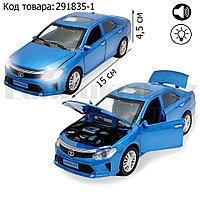 Игрушка детская машинка металлическая с свето-звуковым эффектом Die-Cast Metal Model Car 1:32 голубая