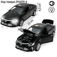 Игрушка детская машинка металлическая с свето-звуковым эффектом Die-Cast Metal Model Car 1:32 черная