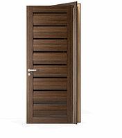 Межкомнатные двери Doren М108/4 Черное стекло Венге 700
