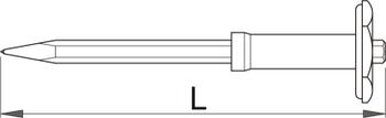Зубило остроносое с защитным фартуком - 670/6AHS UNIOR