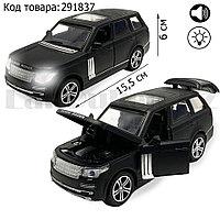 Игрушка детская машинка металлическая с свето-звуковым эффектом Die-Cast Metal Model Car 1:32 матовый черный