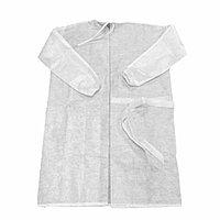 Одноразовый защитный халат, Спанбонд (белый), размер 2XL