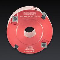 Фреза насадная Dimar четвертная чистый рез четверть 60x40мм D150 Z2+4 корпус алюминий