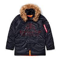 Куртка-парка Alpha Industries SLIM FIT N-3B (Black/Orange)