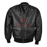 Кожаная куртка Alpha Industries A-2 (Black), фото 1