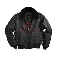 Кожаная куртка Alpha Industries G-1 Leather Jacket (Black)