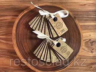 Номерки для гардероба из дерева