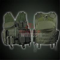 Разгрузочный тактический жилет с подсумками Westrooper K40 MOLLE Vest (Olive)