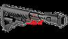 Приклад телескопический, складной FAB-Defense M4-AKS P SB с амортизатором отдачи (Black)
