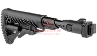 Приклад телескопический, складной FAB-Defense M4-AKS P SB с амортизатором отдачи (Black), фото 1