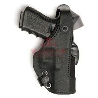 Кобура на пояс с креплением Paddle Front Line Thumb-Spring Holster для Glock 17 /17C/22/22C (KNG717P) (Black)