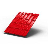 Металлочерепица Супермонтеррей Optima глянцевая 0.5 Красная