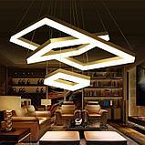 Светильники подвесные в стиле хай-тек 60х40х8см, витражные люстры, люстры в стиле хай-тек, хрустальные люстры, фото 10
