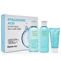 Косметический набор FarmStay Hyaluronic Acid Super Aqua Skin Care 3 Set